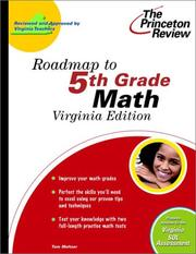 Cover of: Roadmap to 5th Grade Math, Virginia Edition | Princeton Review