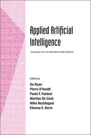 Cover of: Applied artificial intelligence |