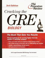 Cover of: Cracking the GRE Biology, 3rd Edition (Cracking the Gre: Biology)