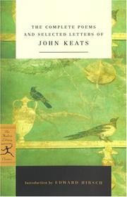 Cover of: Complete Poems and Selected Letters of John Keats