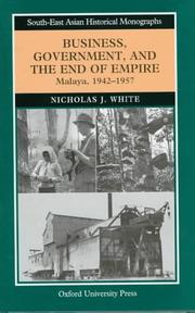 Cover of: Business, Government, and the End of Empire