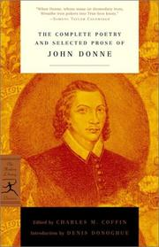 Cover of: The complete poetry and selected prose of John Donne: & the complete poetry of William Blake