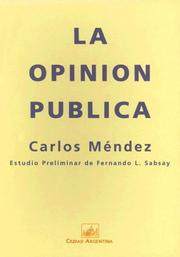 Cover of: La opinión pública