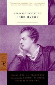 Cover of: Selected poetry of Lord Byron
