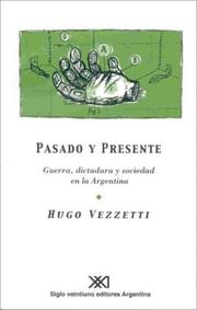 Cover of: Pasado y presente