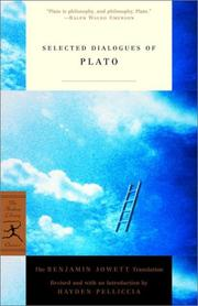 Cover of: Selected Dialogues of Plato
