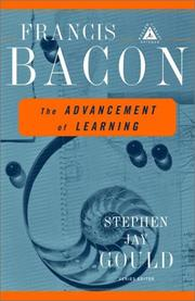 Cover of: The  advancement of learning by Sir Francis Bacon