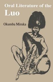 Cover of: Oral literature of the Luo