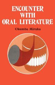 Cover of: Encounter with oral literature