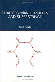 Cover of: Dual resonance models and superstrings