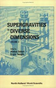 Cover of: Supergravities in Diverse Dimensions (2 Vol. Set) |