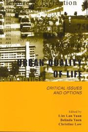 Cover of: Urban quality of life