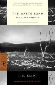 Cover of: The waste land and other writings