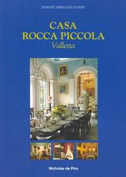 Cover of: Casa Rocca Piccola, Valletta