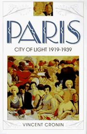 Cover of: Paris | Vincent Cronin