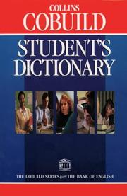 Cover of: Collins COBUILD Student's Dictionary | John Sinclair