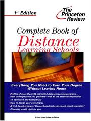 Cover of: Complete book of distance learning schools | Jerry Ice