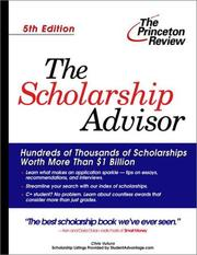 Cover of: The Scholarship Advisor, Fifth Edition (College Admissions Guides)