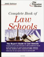 Cover of: Complete Book of Law Schools, 2002 Edition (Complete Book of Law Schools)