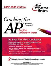 Cover of: Cracking the AP English Literature