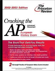 Cover of: Cracking the AP European History