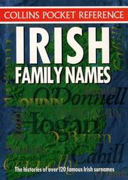 Cover of: Irish Family Names
