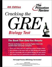 Cover of: Cracking the GRE Biology Test
