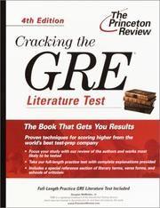 Cover of: Cracking the GRE Literature Test