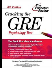 Cover of: Cracking the GRE Psychology Test
