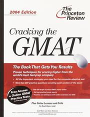 Cover of: Cracking the GMAT, 2004 Edition (Graduate Test Prep) | Geoff Martz