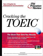 Cover of: Cracking the TOEIC exam | Elizabeth Rollins
