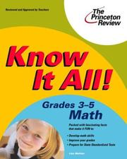 Cover of: Know it all!. | Lisa Meltzer