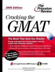 Cover of: Cracking the GMAT with Sample Tests on CD-ROM | Princeton Review