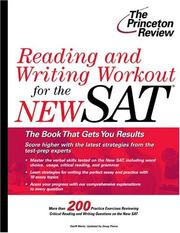 Cover of: Reading and Writing Workout for the NEW SAT (College Test Prep) | Geoff Martz, Doug Pierce