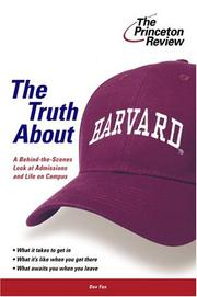 Cover of: The Truth About Harvard