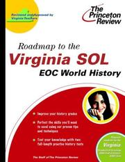 Cover of: Roadmap to the Virginia SOL | Laura York