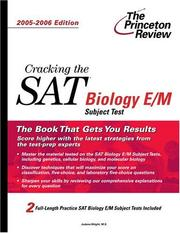 Cover of: Cracking the SAT Biology E/M Subject Test