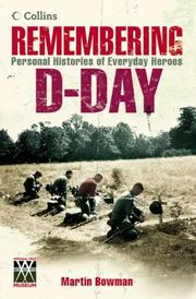 Cover of: Remembering D-day