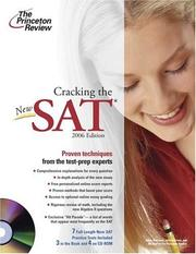 Cover of: Cracking the NEW SAT with CD-ROM, 2006 | Princeton Review