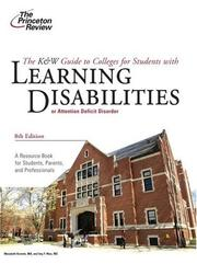 Cover of: K&W Guide to Colleges for Students with Learning Disabilities, 8th Edition (College Admissions Guides) | Princeton Review