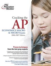 Cover of: Cracking the AP Economics Macro and Micro Exams