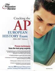 Cover of: Cracking the AP European History Exam