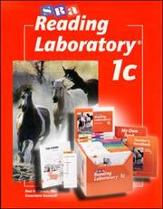 Cover of: SRA Reading Laboratory 1c by Sra
