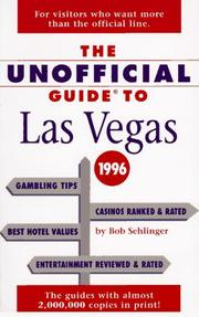Cover of: The Unofficial Guide to Las Vegas 1996 (Frommer's)