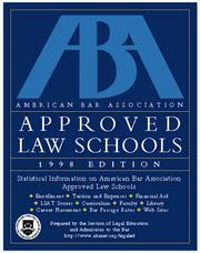 Cover of: Aba Approved Law Schools 1998 (ABA/LSAC Official Guide to ABA-Approved Law Schools)