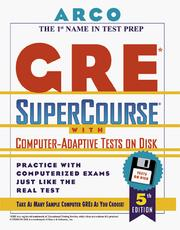 Cover of: Gre Supercourse With Computer-Adaptive Tests on Disk