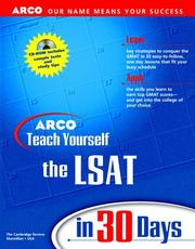 Cover of: Arco Teach Yourself Lsat in 30 Days