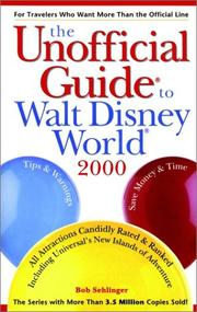 Cover of: Unofficial Guide to Walt Disney World 2000