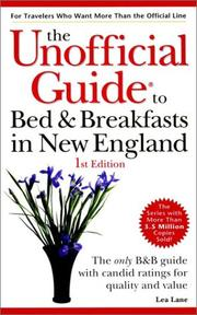 Cover of: The unofficial guide to bed & breakfasts in New England