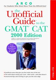 Cover of: UG/The GMAT CAT (Unofficial Guide to the Gmat Cat)